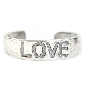 Teenring Love (echt zilver)