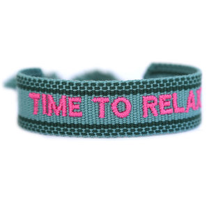 Geweven armband Time to relax