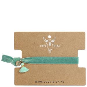 Velvet armbandje groen