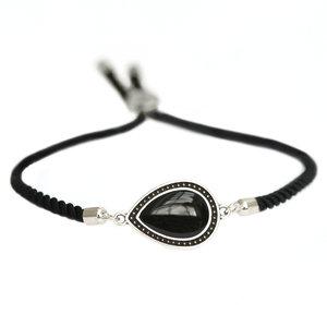 Armband Versailles zwart zilver